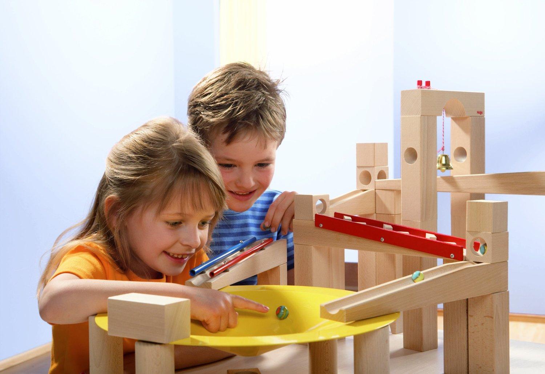 der haba 3524 meisterbausatz kugelbahn f r kinder ab 3. Black Bedroom Furniture Sets. Home Design Ideas