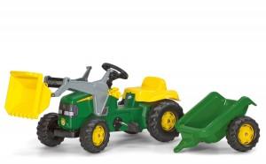 john-deere-tret-traktor-mit-anhaenger