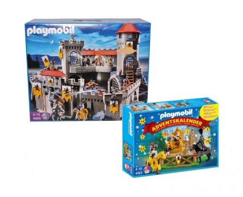 PLAYMOBIL® 4865 - Große Löwenritterburg und 4163 - Adventskalender Ritterturnier