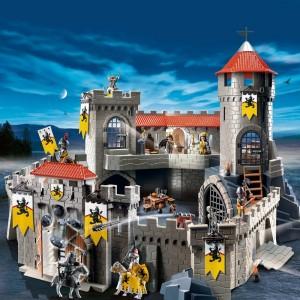 Die Löwenritterburg fertig aufgebaut